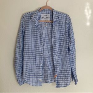 Frank & Eileen Blue Barry Button Down Shirt L